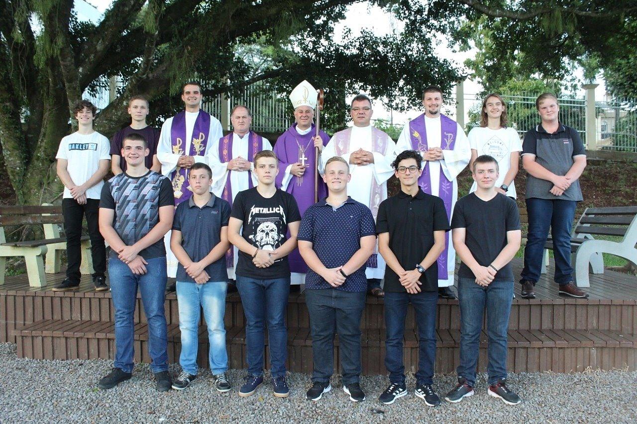 Seminaristas do Seminário Menor de Bom Princípio