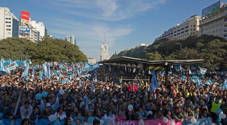 Argentina, manifestação contra o aborto  (AFP or licensors)