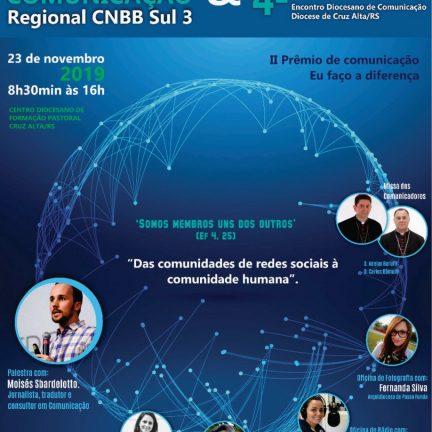 Cruz Alta: Inscrições abertas para o IV Encontro de Comunicação do Regional Sul 3 – CNBB