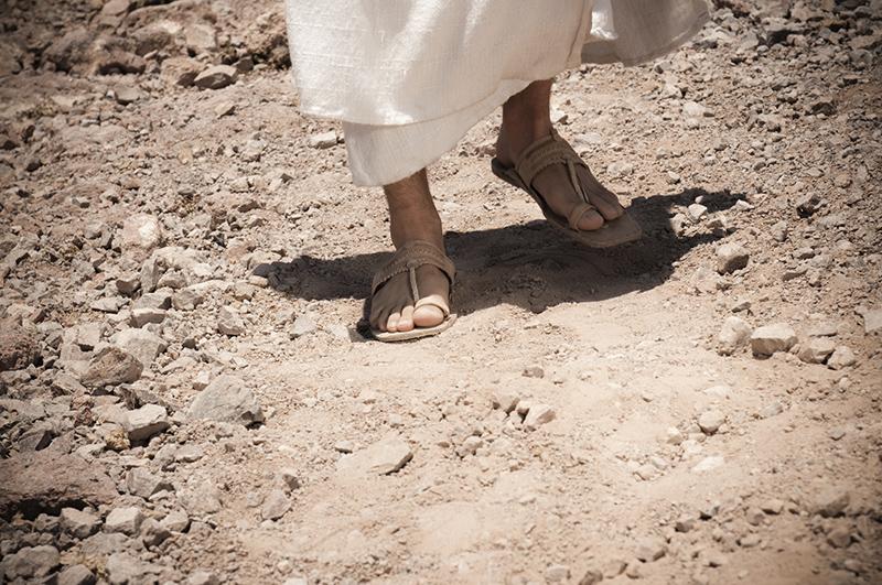 """Dom Carlos: """"Eu nem sou digno de, abaixando-me, desatar a correia de suas sandálias"""" (Mc 1,7)."""