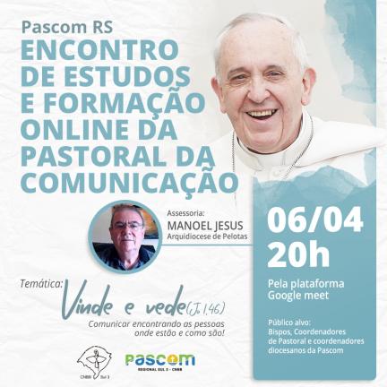 RS: Pascom Regional promove formação sobre o Dia Mundial das Comunicações